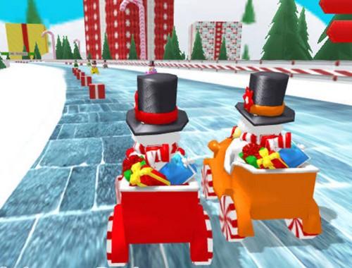 Рождественская гонка снеговиков